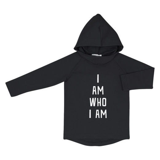 "Hoodie with text ""I am who I am"" Teens"